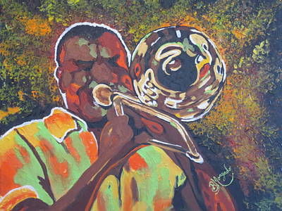 Trombone Player  Original by Brenda Morgado
