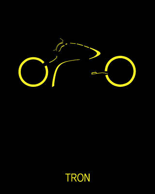 Tron Digital Art - Tron Minimalist Movie Poster by Finlay McNevin