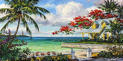 Waterscape Painting - Tropic View by Kevin Hutchinson