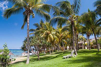 Tropical Beach I. Mauritius Print by Jenny Rainbow