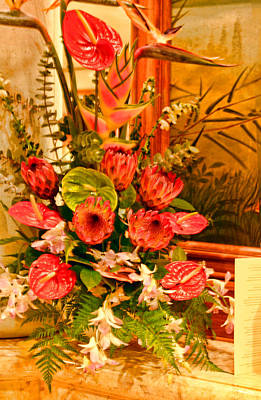 Tropical Bouquet Print by Linda Phelps