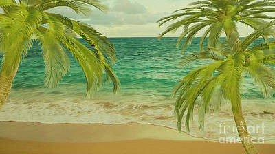 Tropical Dreams 2 Print by Cheryl Young