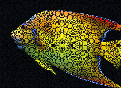 Tropical Fish 12 - Abstract Art By Sharon Cummings Print by Sharon Cummings
