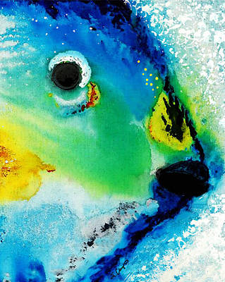 Atlantic Ocean Mixed Media - Tropical Fish 2 - Abstract Art By Sharon Cummings by Sharon Cummings