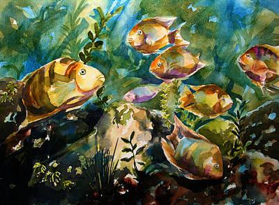 Painting - Tropical Fish 3 by Julianne Felton