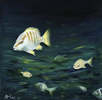 Tropical Fish Print by Anastasiya Malakhova