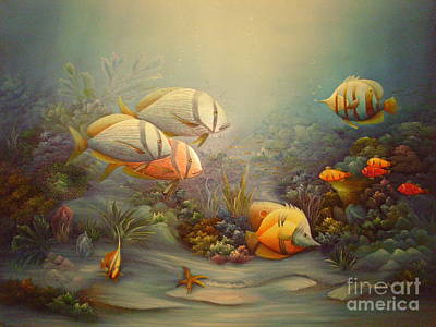 Passionate Painting - Tropical Fish by C Benolt