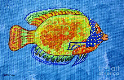 Tropical Fish Original Painting Print by Ella Kaye Dickey