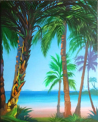 Tropical Landscape Original by Robert Korhonen