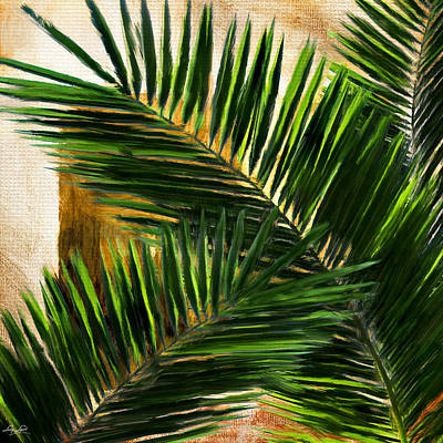 Tropical Leaves Print by Lourry Legarde