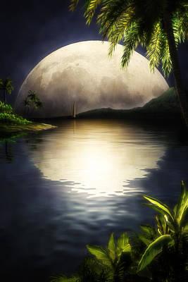 Tropical Moon Original by John Robichaud