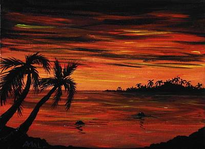 Republic Painting - Tropical Night by Anastasiya Malakhova