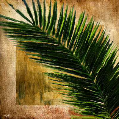 Tropical Palm Print by Lourry Legarde