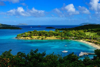 Tropical Paradise In The Virgin Islands Print by Greg Norrell
