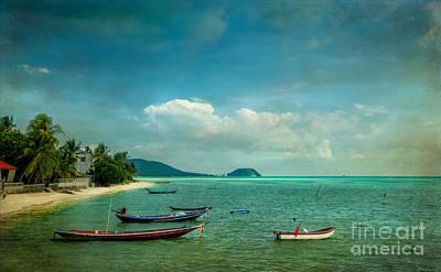 Tropical Seas Print by Adrian Evans