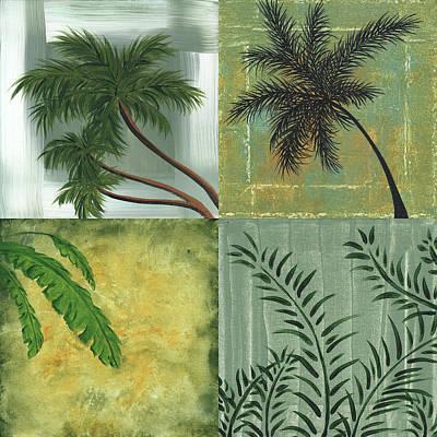 Leaf Painting - Tropical Splash Square By Madart by Megan Duncanson