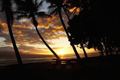 Tropical Sunset Print by Art Spectrum