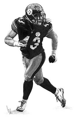 Troy Polamalu Print by Bobby Shaw