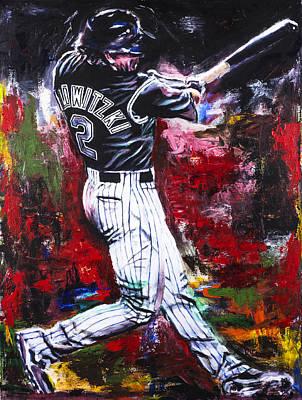 Troy Tulowitzki Original by Mark Courage