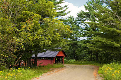 Troy Vermont Covered Bridge Print by Stephanie McDowell
