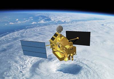 Imaging Radar Photograph - Trrm Rainfall Satellite by Nasa