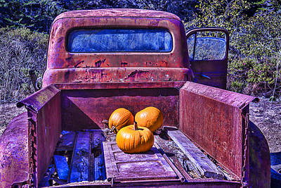 Broken Down Truck Photograph - Truck Bed by Garry Gay