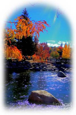 High Sierra Digital Art - Truckee River Painting  by Bobbee Rickard