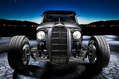 Headlight Photograph - Millers Chop Shop 1964 Truckster Frontend by Yo Pedro