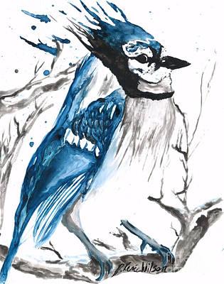True Blue Jay Print by D Renee Wilson