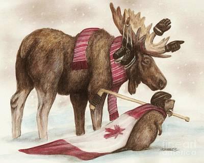 Beaver Drawing - True North by Meagan  Visser