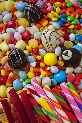 Licorice Photograph - Truffles And Assorted Candy by Garry Gay