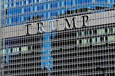 Trump Tower Marquee Print by Frozen in Time Fine Art Photography