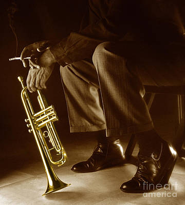 Brown Photograph - Trumpet 2 by Tony Cordoza