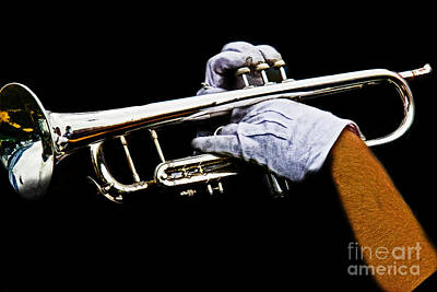 Marching Band Photograph - Trumpet by Tom Gari Gallery-Three-Photography