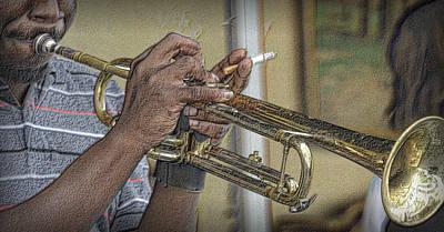 Jazz Photograph - Trumpet Man by Nadalyn Larsen
