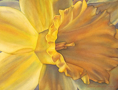 Daffodils Painting - Trumpet Of Spring by Sandy Haight
