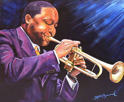 Marcelli Painting - Trumpet Player by Stephen Broussard