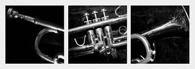 Trumpet Photograph - Trumpet Triptych by Photographic Arts And Design Studio