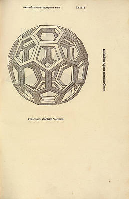 Truncated Icosahedron Print by Library Of Congress