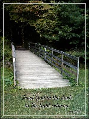 Trust God In The Dark Print by Sara  Raber