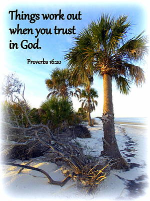 Trust In God Print by Sheri McLeroy
