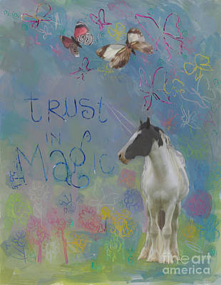 Trust In Magic Print by Kimberly Santini