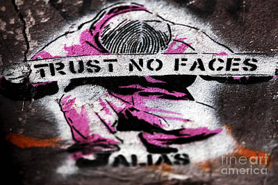 Trust No Faces Print by John Rizzuto