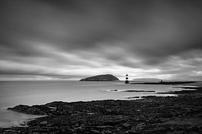 Bowmans Beach Photograph - Trwyn Du Lighthouse 1 by Dave Bowman