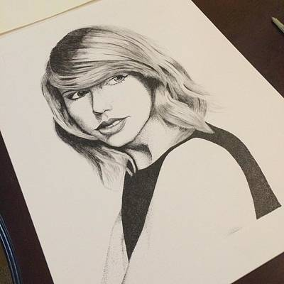 Taylor Swift Drawing - T.S by Richie Wentworth