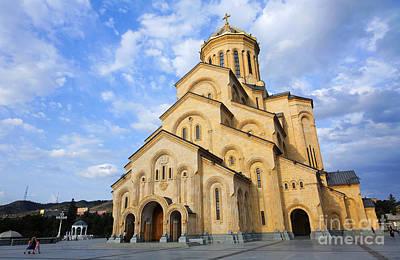 Tsminda Sameba Cathedral Tbilisi Georgia Print by Robert Preston