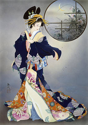 Intricate Digital Art - Tsukiakari by Haruyo Morita