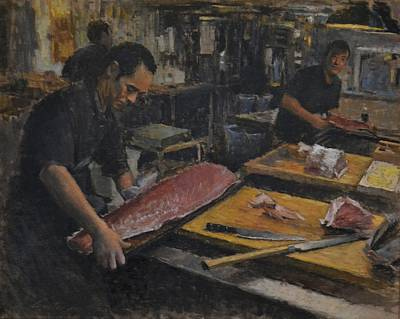 Tsukiji Market Print by Phil Couture
