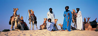 Mali Photograph - Tuareg Camel Riders, Mali, Africa by Panoramic Images