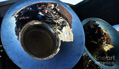 Marching Band Photograph - Tuba Parade Reflections by JW Hanley